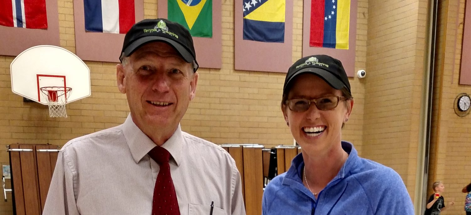 Tennis & Tutoring Program at Hillside Elementary with West Valley City Mayor Ron Bigelow and T&T Director Angie Keeton