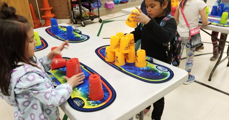 Monroe Elementary Cup Stacking Class